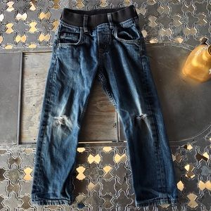 H&M Slim Pull On Boys Distressed Jeans Size 4-5Y